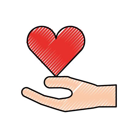 menselijke hand donatie liefdadigheid steun gebaar vectorillustratie Stock Illustratie