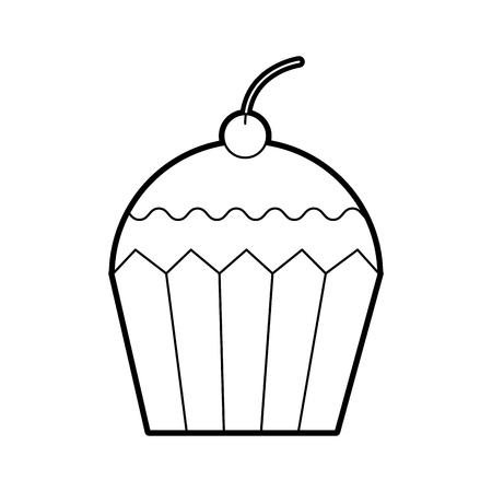 Cupcake Dessert Gebäck Produkt Lebensmittel frische Vektor-Illustration Standard-Bild - 86642036