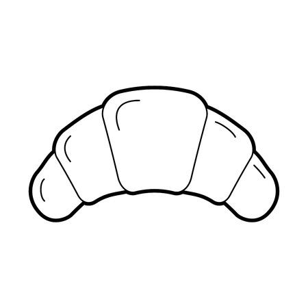 クロワッサン パン菓子製品食品新鮮なベクトル図