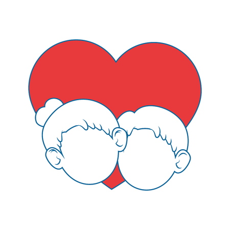 couple of grandparents and heart icon over white background colorful design vector illustration Stock Vector - 86957654