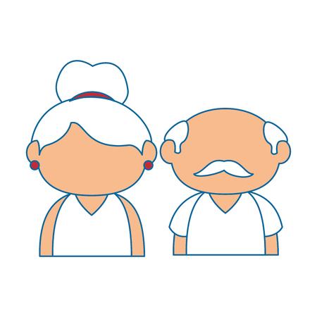 Couple of grandparents icon over white background colorful design vector illustration.
