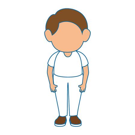 白い背景カラフルなデザインベクターイラストの上にアバター男のアイコン  イラスト・ベクター素材
