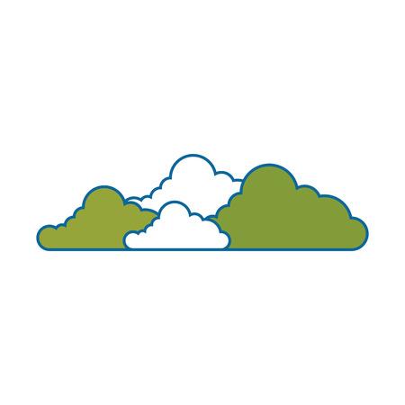 bushes icon over white background colorful design vector illustration