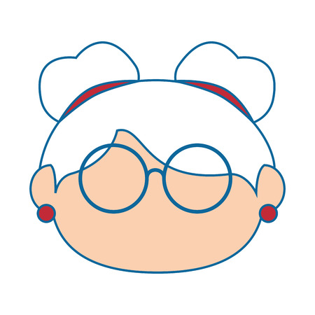 grandmother icon over white background colorful design vector illustration Illustration