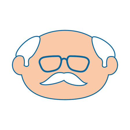 grandfather icon over white background vector illustration