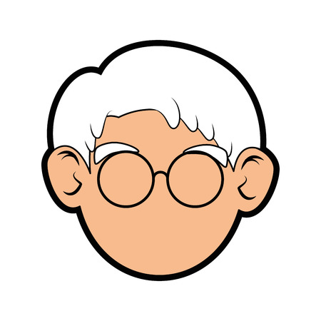 Grandfather icon over white background vector illustration. Illustration