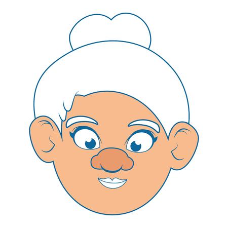 Icono de abuela sobre fondo blanco ilustración vectorial de diseño colorido Foto de archivo - 87013178