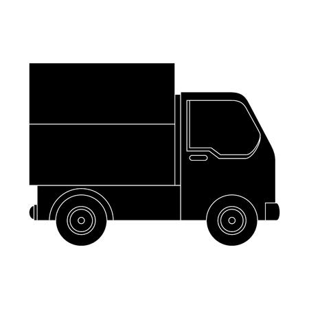 cargo truck icon over white background vector illustration