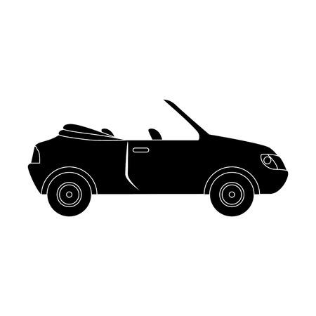 sport car icon over white background vector illustration Illustration