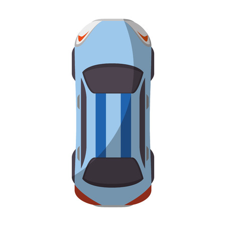 car icon over white background top view vector illustration Zdjęcie Seryjne - 86957705