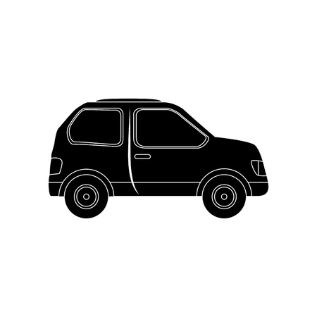 car icon over white background vector illustration Illustration