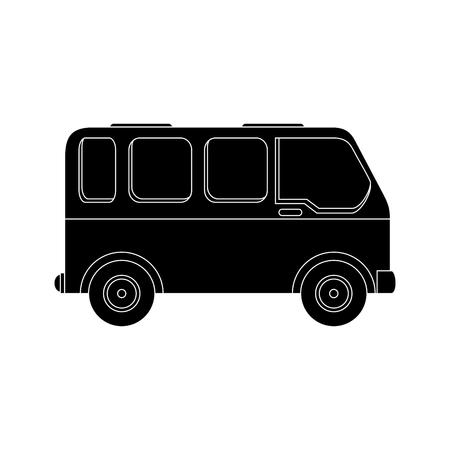 Bestelwagen voertuigpictogram over witte vectorillustratie als achtergrond Stockfoto - 86957708