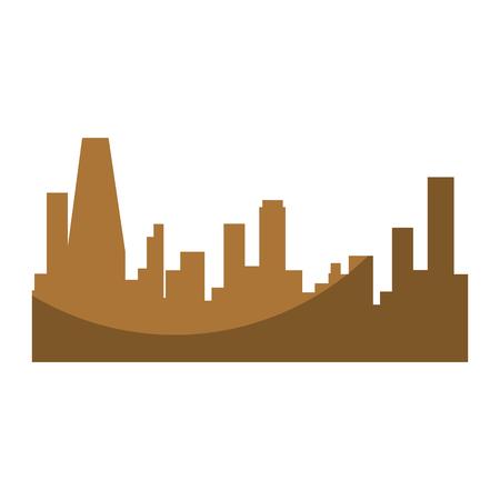 Silhouette de bâtiments de ville icône sur fond blanc illustration vectorielle Banque d'images - 86817741