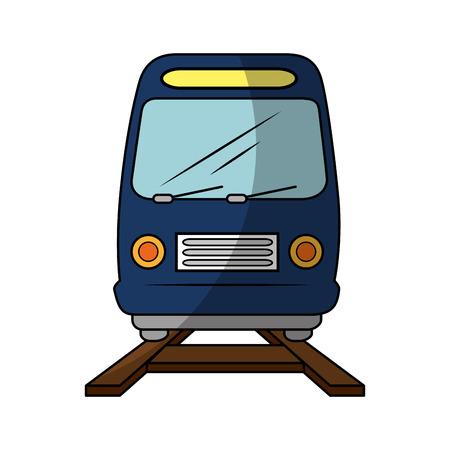 trein pictogram over witte achtergrond vectorillustratie Stock Illustratie
