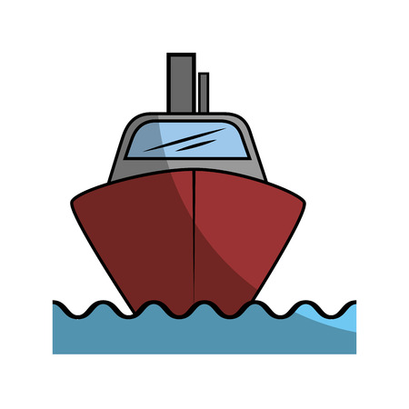 cruise ship icon over white background vector illustration