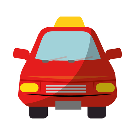 taxi auto pictogram over witte achtergrond vector illustratie