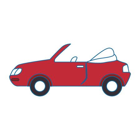 Sports car icon over white background vector illustration Ilustracja