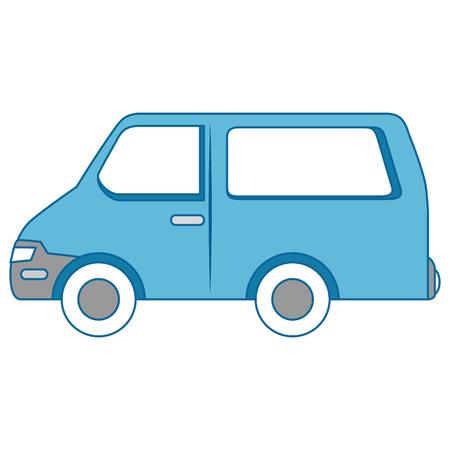 Van icon over white background vector illustration