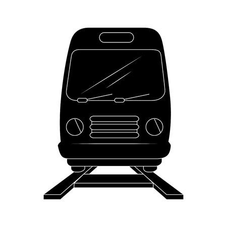 Trein pictogram over witte achtergrond vector illustratie