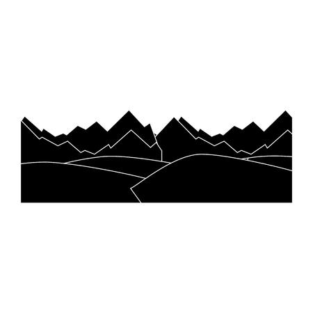 흰색 배경 벡터 일러스트 레이 션 위에 산 아이콘
