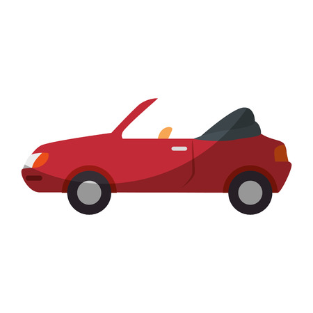 A red car icon over white background vector illustration Ilustracja