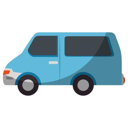 Bestelwagenpictogram over witte vectorillustratie als achtergrond