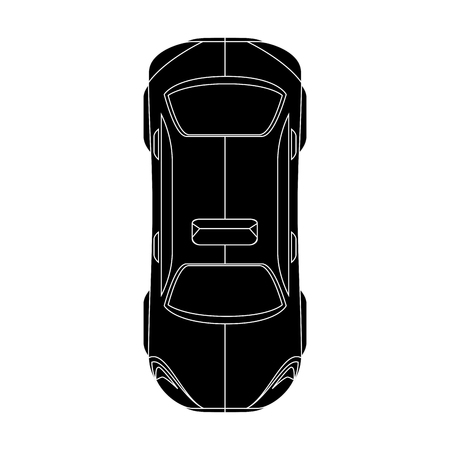 Car icon over white background top view vector illustration Zdjęcie Seryjne - 86817763