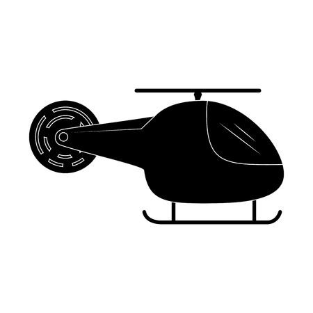 Helicopter icon over white background vector illustration