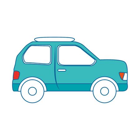 A car icon over white background colorful design vector illustration Illustration