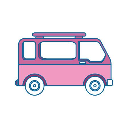 Een bestelwagenpictogram over witte vectorillustratie als achtergrond Stock Illustratie