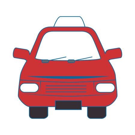 Car icon over white background colorful design  vector illustration