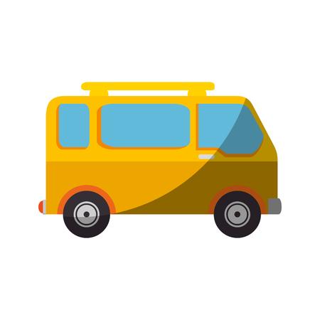 A van icon over white background vector illustration Illustration