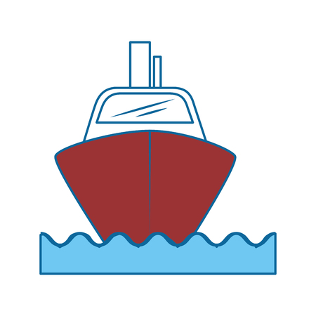 Cruise ship icon over white background vector illustration