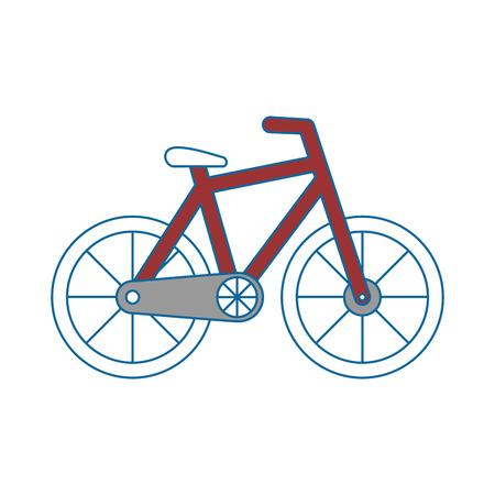 흰색 배경 벡터 일러스트 레이 션을 통해 자전거 아이콘 일러스트