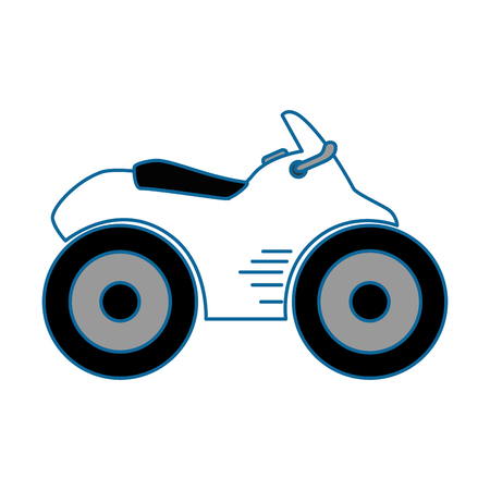 Quad motorcycle icon over white background vector illustration Illustration