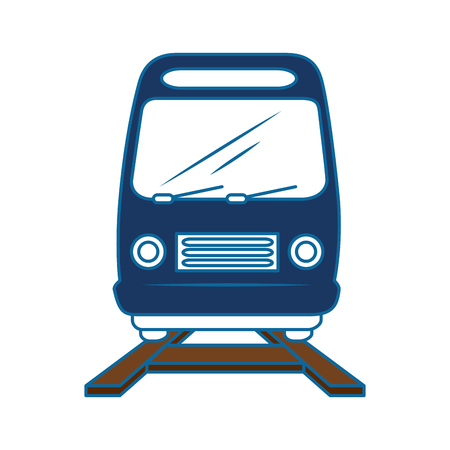 train icon over white background vector illustration Stock Vector - 86751418