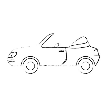 sport car icon over white background vector illustration Ilustracja