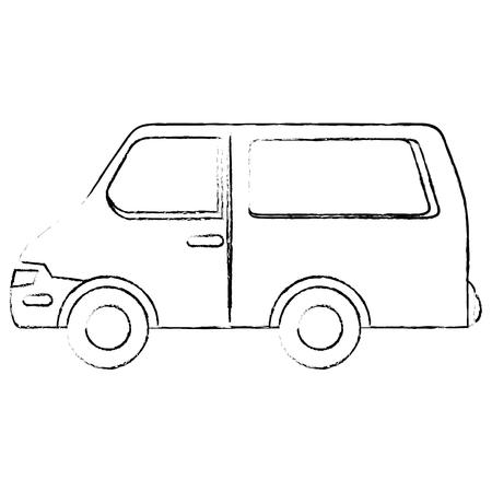 van vehicle icon over white background vector illustration