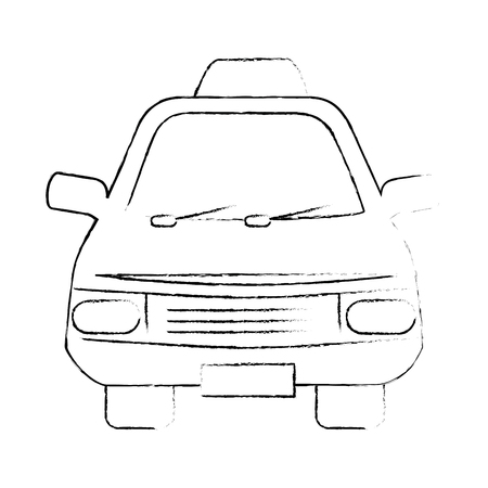 taxi car icon over white background vector illustration Illustration
