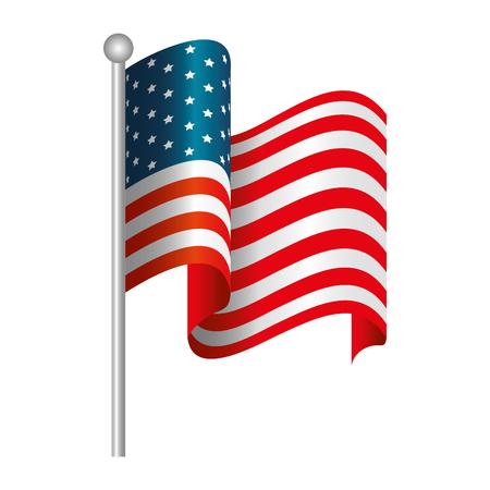 Vereinigte Staaten kennzeichnen Ikonenvektor-Illustrationsgrafikdesign Standard-Bild - 86817774