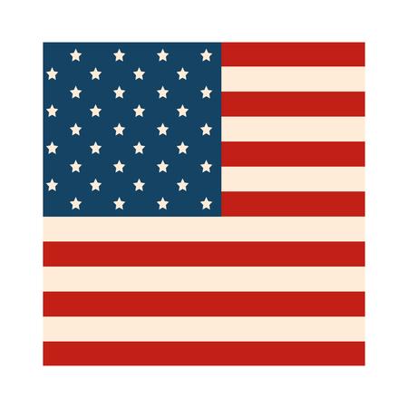 Vereinigte Staaten kennzeichnen Ikonenvektor-Illustrationsgrafikdesign Standard-Bild - 86817787