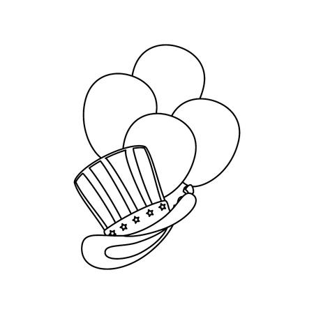 アンクルサムの帽子アイコン ベクトル イラスト グラフィック デザイン  イラスト・ベクター素材