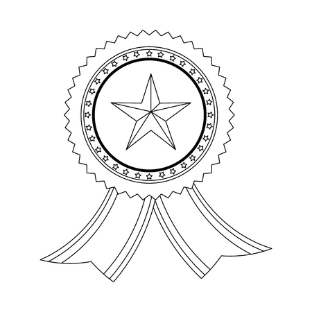 Award ribbon isolated icon vector illustration graphic design Ilustrace