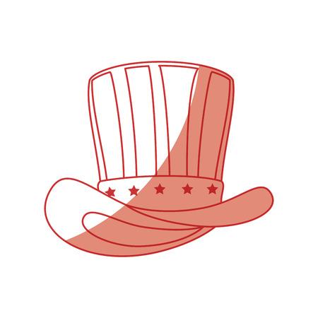 Uncle sam hat icon vector illustration graphic design