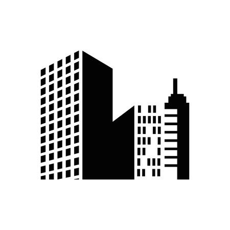 都市景観ビュー アイコン ベクトル イラスト グラフィック デザイン