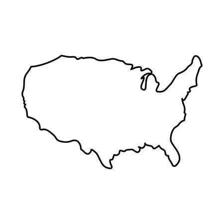 Diseño gráfico del ejemplo del vector del icono de la silueta de los estados unidos de los estados Foto de archivo - 86957717