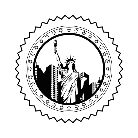 Statue of liberty icon vector illustration graphic design
