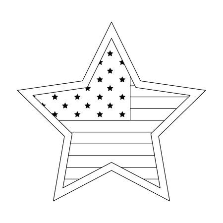 アメリカ合衆国国旗のアイコン ベクトル イラスト グラフィック デザイン  イラスト・ベクター素材