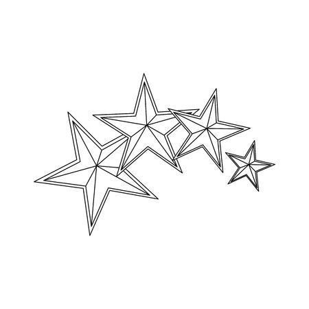 星メダル図形アイコン ベクトル イラスト グラフィック デザイン
