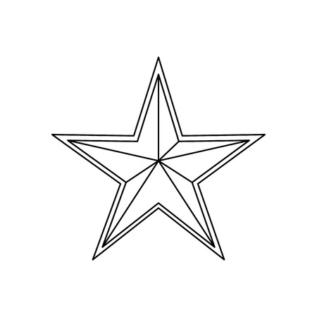 스타 메달 모양 아이콘 벡터 일러스트 그래픽 디자인